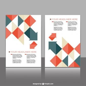 Diseño de folleto con formas geométricas