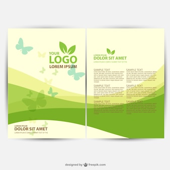 Plantilla de folleto de ecología