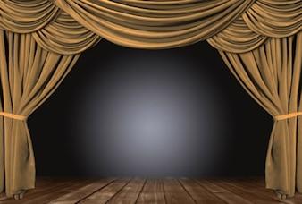 Brown cortina de material de imagen