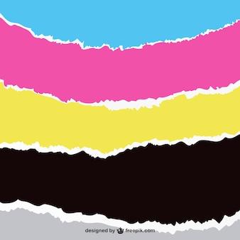 Franjas de color pintadas con brocha