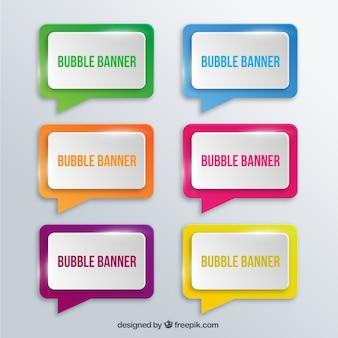 Banners de burbujas
