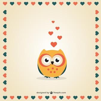Buho del Día de San Valentín