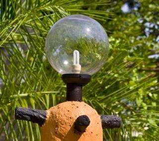 bulbo de la lámpara al aire libre
