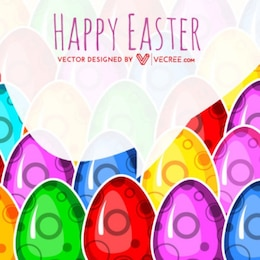 burbuja de diálogo huevos de Pascua de fondo decorativo