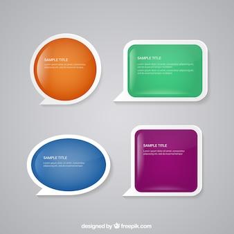 Burbujas coloridas del discurso