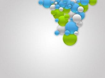 Burbujas de colores de fondo de negocio PSD