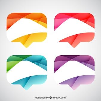 Burbujas de diálogo abstractas coloridas