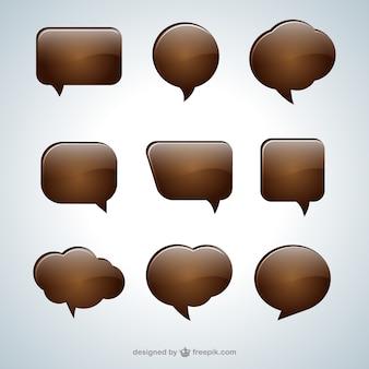 Burbujas de diálogo de chocolate