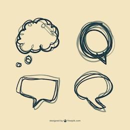 Burbujas de diálogo dibujadas a mano