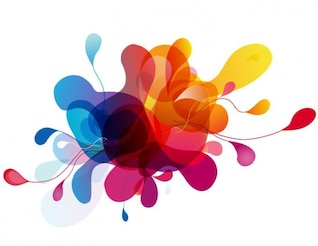 burbujas de vector de colorido diseño