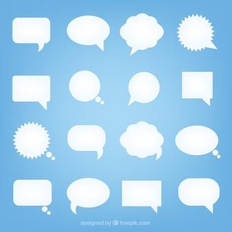 Burbujas del discurso blancas