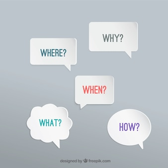 Burbujas del discurso con preguntas