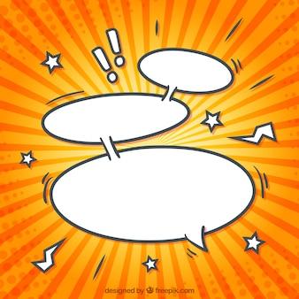 Burbujas del discurso de dibujos animados