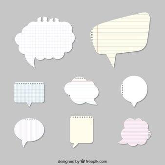 Burbujas del discurso de papel