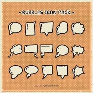 Burbujas del discurso iconos paquete