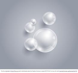 Burbujas limpio vector de fondo