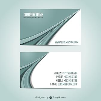 Plantilla de tarjetas de visita con formas grises