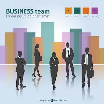 Vector equipo de trabajo en negocios