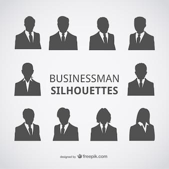 Avatares de siluetas empresario
