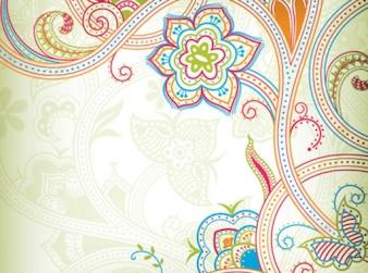 Patrón de mariposa con líneas de colores