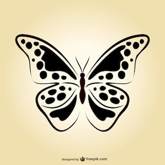 Vector artístico de mariposa