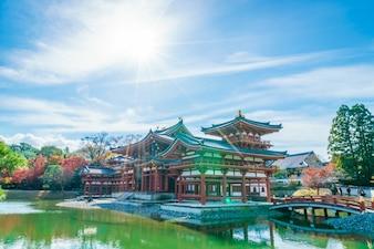 Byodo-en el templo de Kyoto, Japón