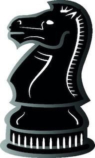 Caballero vista lateral de ajedrez