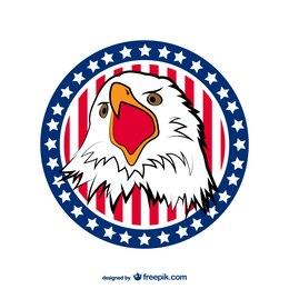 Cabeza de águila con barras y estrellas