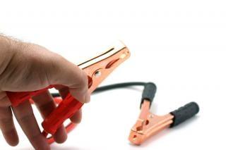 Cables de arranque y de la mano, un clip