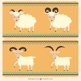 Cabras ilustración