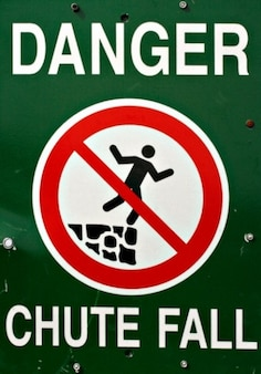 caer señal de peligro