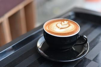 Café con leche y diseño bonito