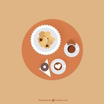 Café y galletas