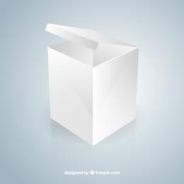 Caja abierta en blanco