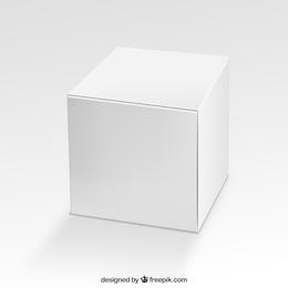 Caja cuadrada en blanco
