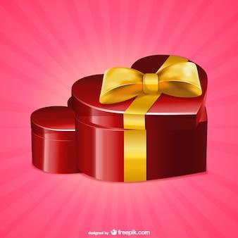 Caja de regalo con forma de corazón