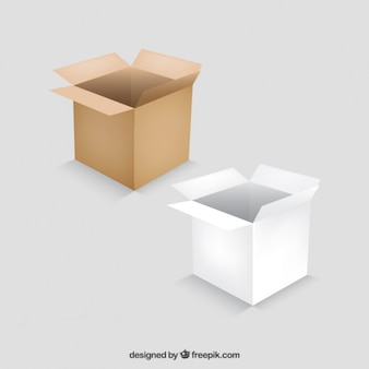 Cajas abiertas