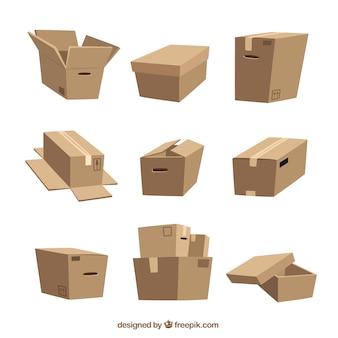 Cajas de dibujos animados
