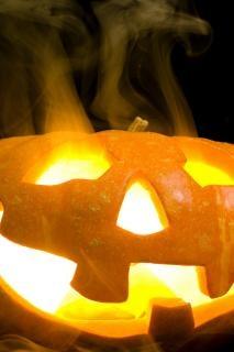 Calabaza de Halloween en bruto