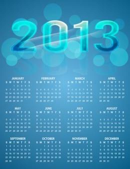 calendario colorido brillante fondo azul vector