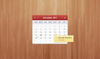 calendario de limpieza sombra suave y elegante interfaz de usuario de madera blanda sutil