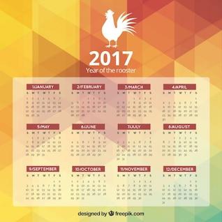 Calendario para el año 2015, año de la cabra