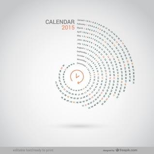 Calendario redondo de 2015