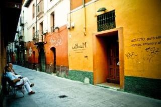 calle de colorido español