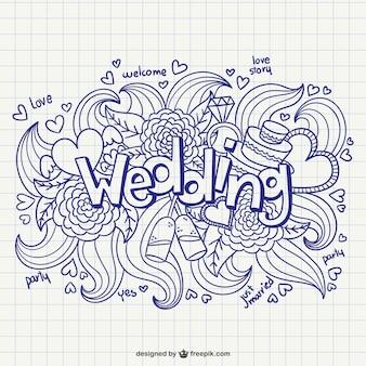 Tarjeta de boda caligráfico