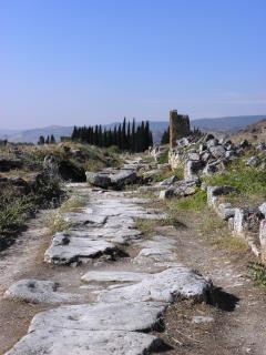 Calzada romana antigua