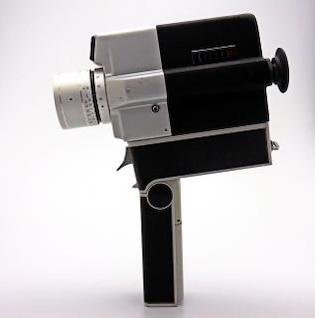 cámara de época, de fondo