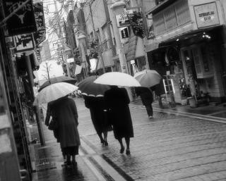 caminar en la lluvia,