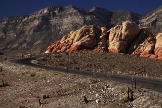 Camino del desierto, el calor
