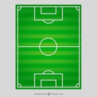 Campo de fútbol en la vista superior